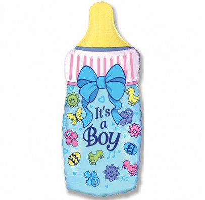 Кулька фольгована фігурна Пляшечка It's a Boy