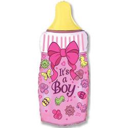 Кулька фольгована фігурна Пляшечка It's a Girl