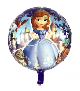 Кулька фольгована Принцеса Софія фіолетова