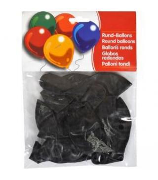 """Набір кульок Чорні 10"""" (25см) 10шт/уп"""