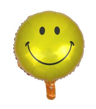 Шарик фольгированный Smile желтый