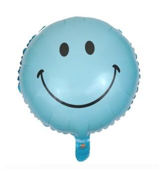 Шарик фольгированный Smile синий