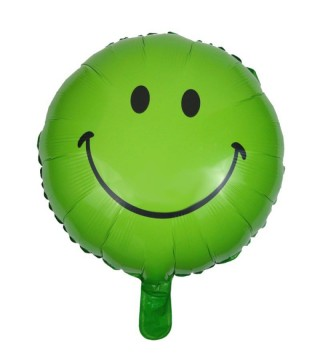 Шарик фольгированный Smile зеленый