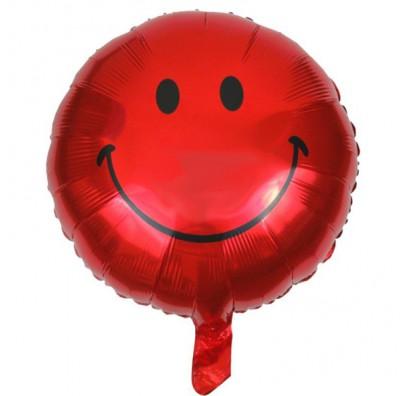 Шарик фольгированный Smile красный