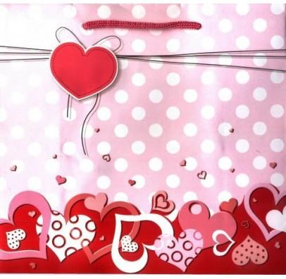 Подарочный пакет Сердечки