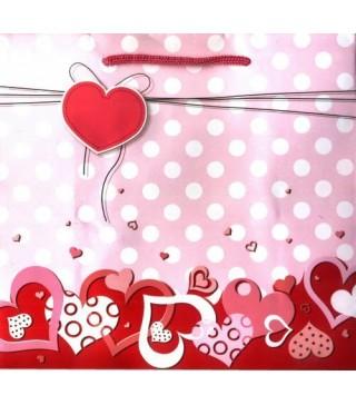 Пакет подарунковий Сердечка рожеві