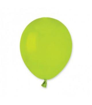 """Кульки салатові 5"""" (13см) пастель 100шт/уп"""