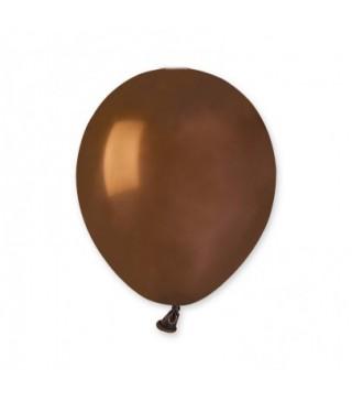 """Шарики коричневые 5"""" (13см) пастель 100шт/уп"""