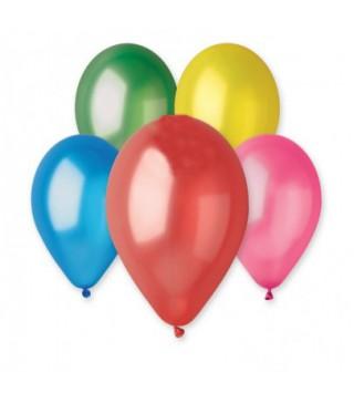 """Кульки асорті 12""""(30см) металік 100шт/уп"""