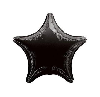 Шарик фольгированный Звезда чорная