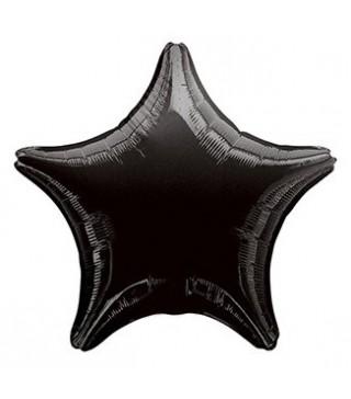 Кулька фольгована Зірка чорна