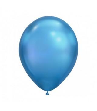 """Шарик Хром 11 """"(28см) синий 1 шт"""