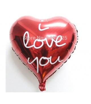 Кулька фольгована серце I love you