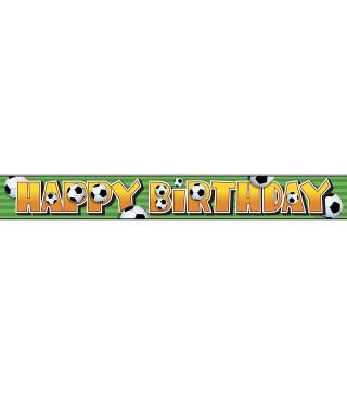Банер Happy Birthday Футбол