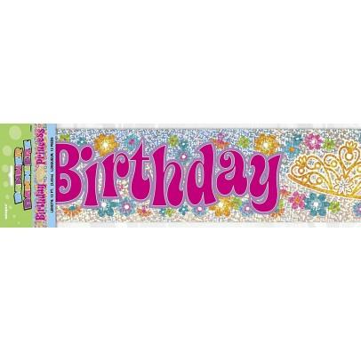 Банер Happy Birthday корона