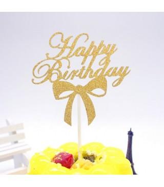 Топер Happy birthday асорті