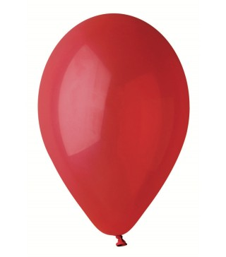 """Кульки червоні 10""""(25см) пастель 100шт/уп"""