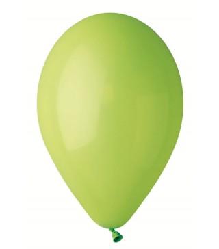 """Кульки салатові 10""""(26см) пастель 100шт/уп"""