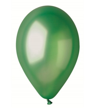 """Кульки Зелені 10""""(26см) металік 100шт/уп"""