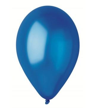 """Кульки Сині 10""""(26см) металік 100шт/уп"""