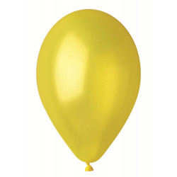 """Кульки жовті 12"""" металік (27см) 100шт/уп"""