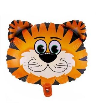 Кулька фольгована фігурна голова Тигра