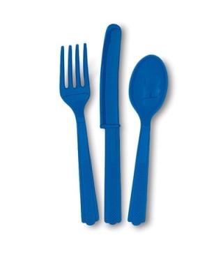 Столовые наборы синие 18шт