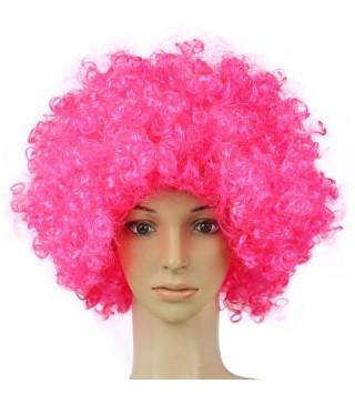 Парик Кудрявый розовый