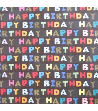 Папір подарунковий Happy Birthday