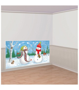 Баннер на стену Снеговички