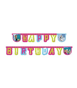 Гирлянда Happy Birthday Frozen