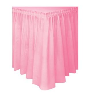 Скатерть С рюшками розовая