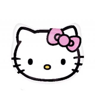 Шарик фольгированный фигурный голова Hello Kitty