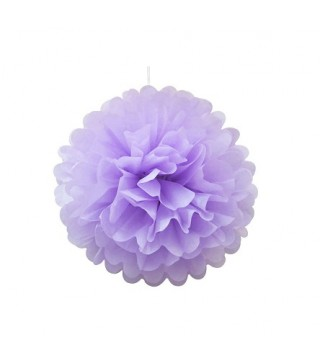 Помпон фиолетовый 25см