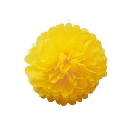 Помпон желтый 25см