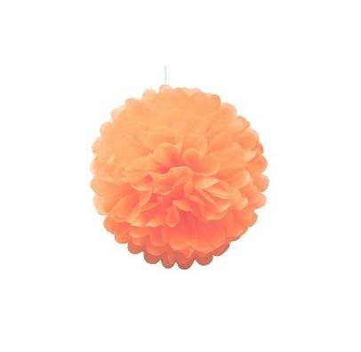 Помпон оранжевый 25см
