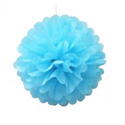 Помпон блакитний 35см