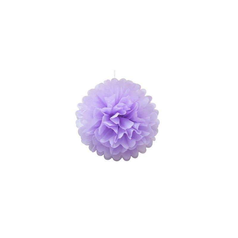 Помпон фиолетовый 35см