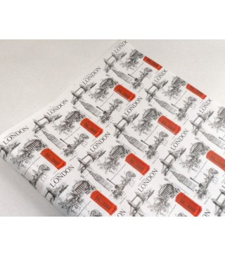 Бумага подарочный газета цветная (1м)