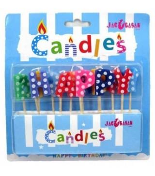 Свічки Hаppy Birthday кольорові