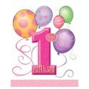 Подарочные пакеты 1-st Birthday girl 6шт/уп