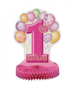 Декорация на стол 1-st Birthday girl 1шт/уп