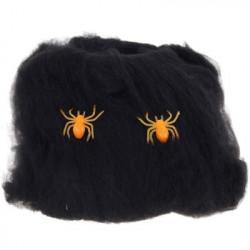 Паутина с паучками черная