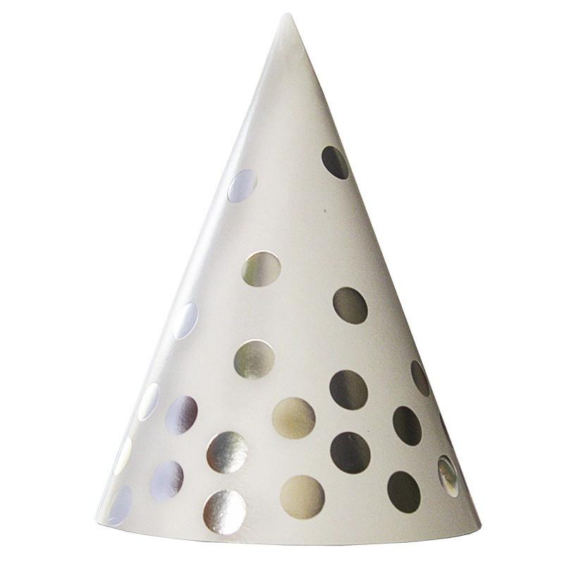 Ковпачок білий у срібний горох