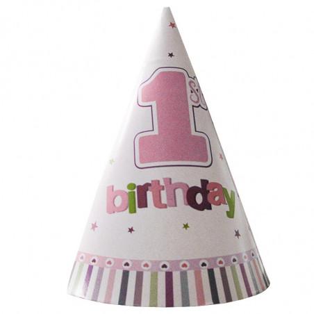 Колпачок 1-st Birthday розовый