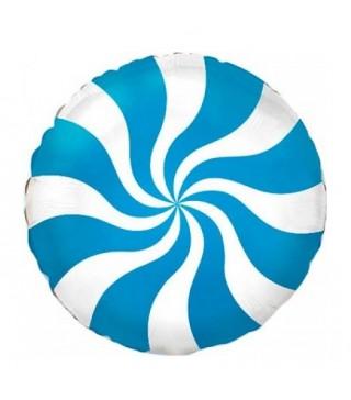 Шарик фольгированный Леденец голубой