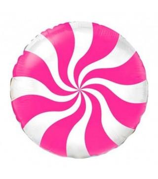 Шарик фольгированный Леденец розовый