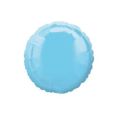 Шарик фольгированный Круглый голубой