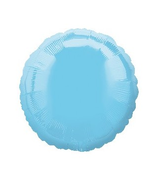 Кулька фольгована Кругла блакитна