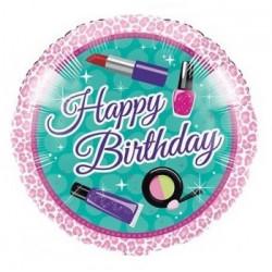 Шарик Happy Birthday гепардовая